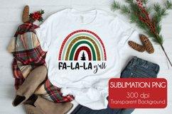 Fa-La-La Y'all  Christmas Sublimation PNG Product Image 1