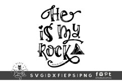He Is My Rock SVG | Christian SVG | Bible Verse SVG Cut File Product Image 1