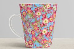 red flowers freesia seamless pattern watercolor Product Image 6