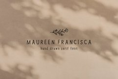 Hand Drawn Serif Font with Illustrations | Handwritten Font Product Image 1