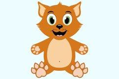 Cute Cat SVG Cut Files, PNG cat clipart Product Image 4