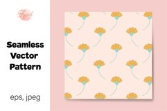 Daisy Flowers Digital Paper, Seamless Pattern Product Image 1
