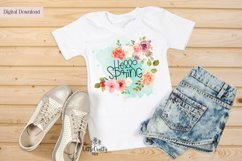 Hello Spring PNG Sublimation Design Product Image 2