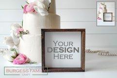 Mockup Wedding Cake Square Sign | JPEG Product Image 1
