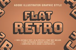5 Retro Text Effect Graphic Styles Vector Product Image 3