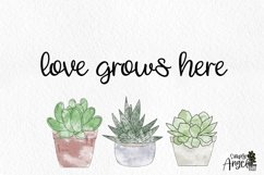 Happy Cactus - a cute handwritten script font Product Image 6