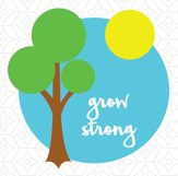 Grow Strong Onesie Design, SVG, DXF, EPS Vector files for use with Cricut or Silhouette Vinyl Cutting Machines. Product Image 2