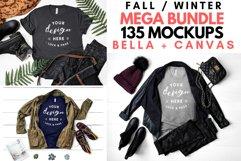 T-Shirt Mockup Mega Bundle Fall Winter Bella Canvas 3001 Product Image 1