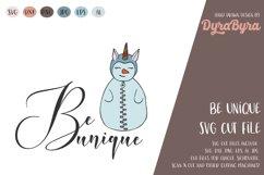 Be Unique SVG / Snowman SVG / Unicorn SVG / Christmas SVG Product Image 1