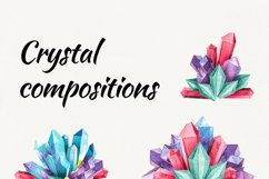 Watercolor crystals. clipart with crystals Product Image 4