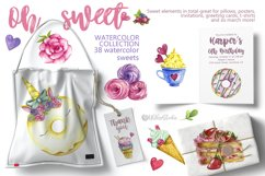 Sweets Confectionery watercolor clipart. Donat day clip art Product Image 4