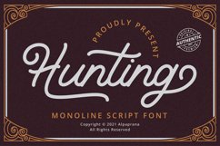 Hunting - Monoline Script Font Product Image 1