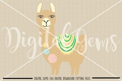 Llama SVG / DXF / EPS / PNG files Product Image 2