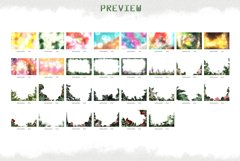 Summer overlays templates frames textures backdrop wedding Product Image 8