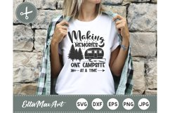 Making memories one campsite at a time SVG, camping svg Product Image 1
