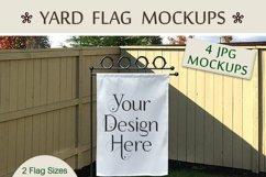 Yard Flag Mockups for Autumn, White & Burlap Flag Mock-Ups Product Image 6