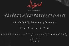 Hysterical   Brush Font Product Image 5