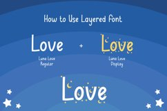 Luna Love - Layered Crafty Font Product Image 7