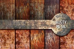 Rusty Metal Digital Papers Product Image 1