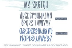 My Sketch - A sketch handwritten font Product Image 2