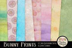 Easter Digital Scrapbook Kit - Bunny Prints Spring Clipart Product Image 2