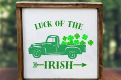 truck svg, clover svg, st patrick's day svg, luck, irish Product Image 4