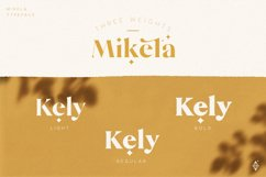 Mikela - Three Weights Gorgeous Typefaces Product Image 2