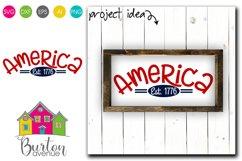 America Est. 1776 SVG File Product Image 1