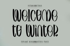 Welcome to Winter - Smart Handwritten Font Product Image 1