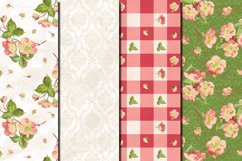 Shabby chic pink roses seamless patterns Product Image 4
