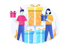 Birthday Gift Flat Illustration Product Image 1