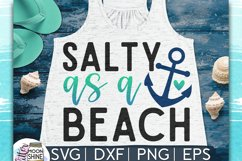 Salty As A Beach SVG DXF PNG EPS Cutting Files Product Image 1