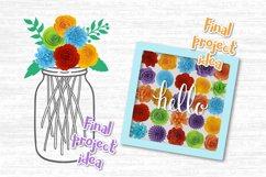 Paper Flower svg, 3d flower svg, Rolled Flower svg file, Product Image 6