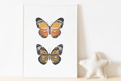 Boho butterfly print, Digital butterfly poster, Spring print Product Image 2