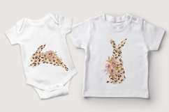 Easter sublimation. Watercolor leopard bunnies clipart. Product Image 3