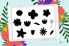 Doodle leaves procreate brushes, foliage stamps Product Image 4