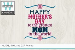 Mothers SVG - Happy Mother's Day Mom Product Image 2