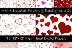 Heart Digital Paper & Backgrounds - Valentine's Day Hearts Product Image 1