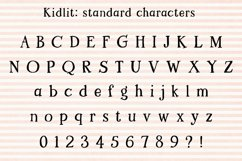 Kidlit: standard alphabet
