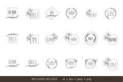 Minimalistic logo set. Logo templates. Schedule. Product Image 9