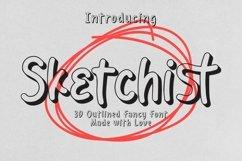 Web Font Sketchist - 3D Outlined Fancy Font Product Image 1