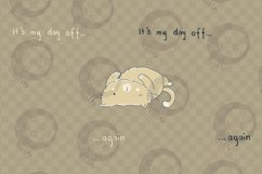 Day Off Cat | Clip Art Illustration | PNG/JPEG Product Image 4