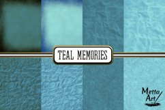 Teal Memories - 16 Digital Papers/Backgrounds Product Image 2