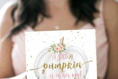 Pumpkin Baby Shower Invitation Fall Autumn Product Image 2