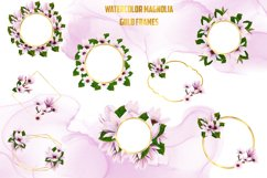 Watercolor Gold Magnolia Frames Product Image 3