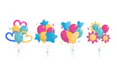 Birthday Balloons Illustrations Product Image 1