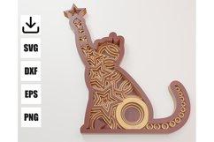 Layered Mandala CAT for decoration Product Image 1