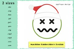 Applique Emoticon Machine Embroidery Design 2 Sizes Product Image 1