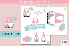 Valentine's Day party decorations. | Gnomes printable party Product Image 2