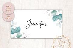 PSD Wedding Menu & Place Card Template - #1 Product Image 3